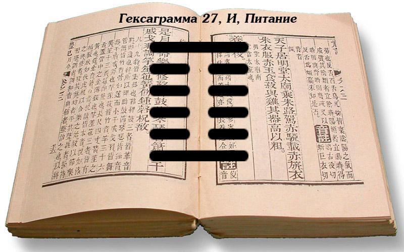 Описание гексаграммы 27 И.