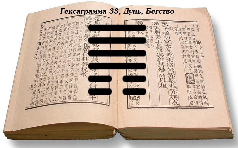 Описание гексаграммы 33 Дунь
