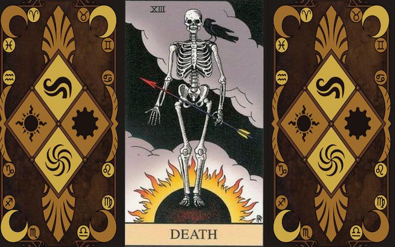 Прямое и перевернутое положение карты Смерть