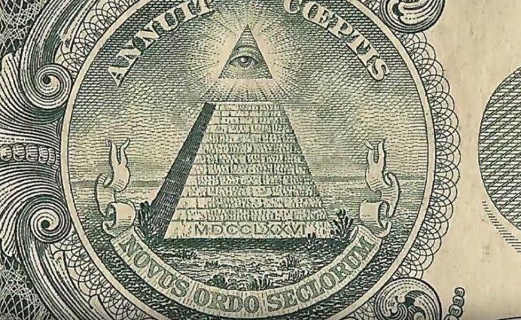 Всевидящее око на одном долларе