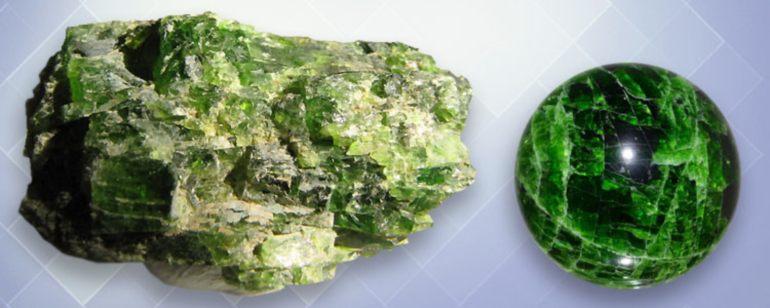 хромдиопсид камень