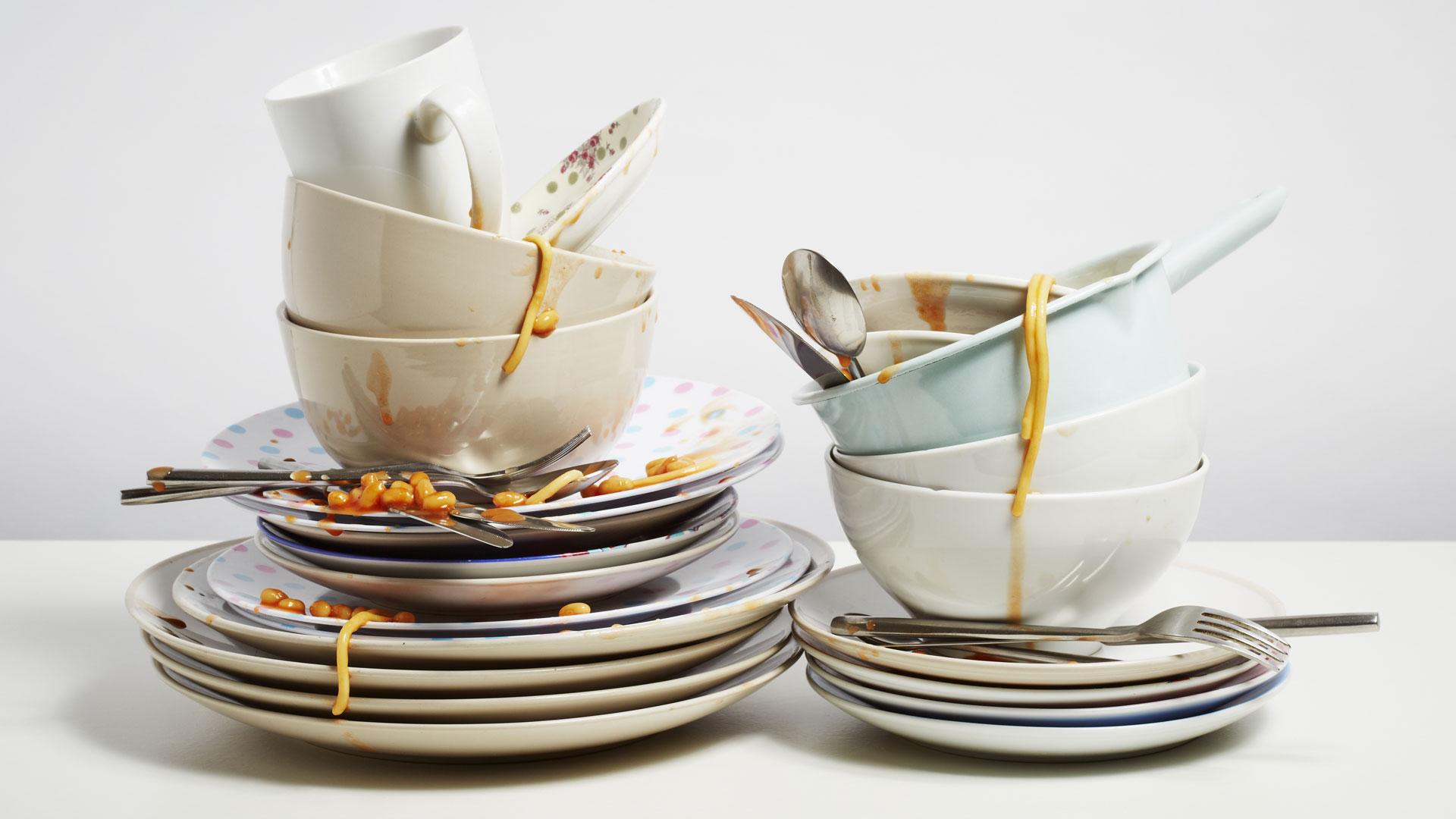 грязная посуда к чему