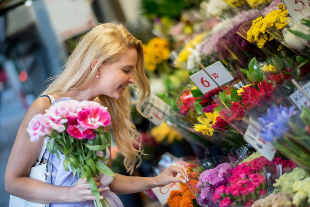 покупать цветы