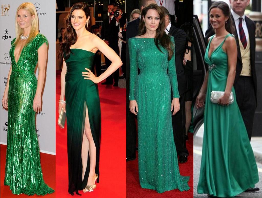 зеленое платье
