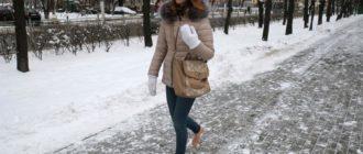 ходить босиком по снегу
